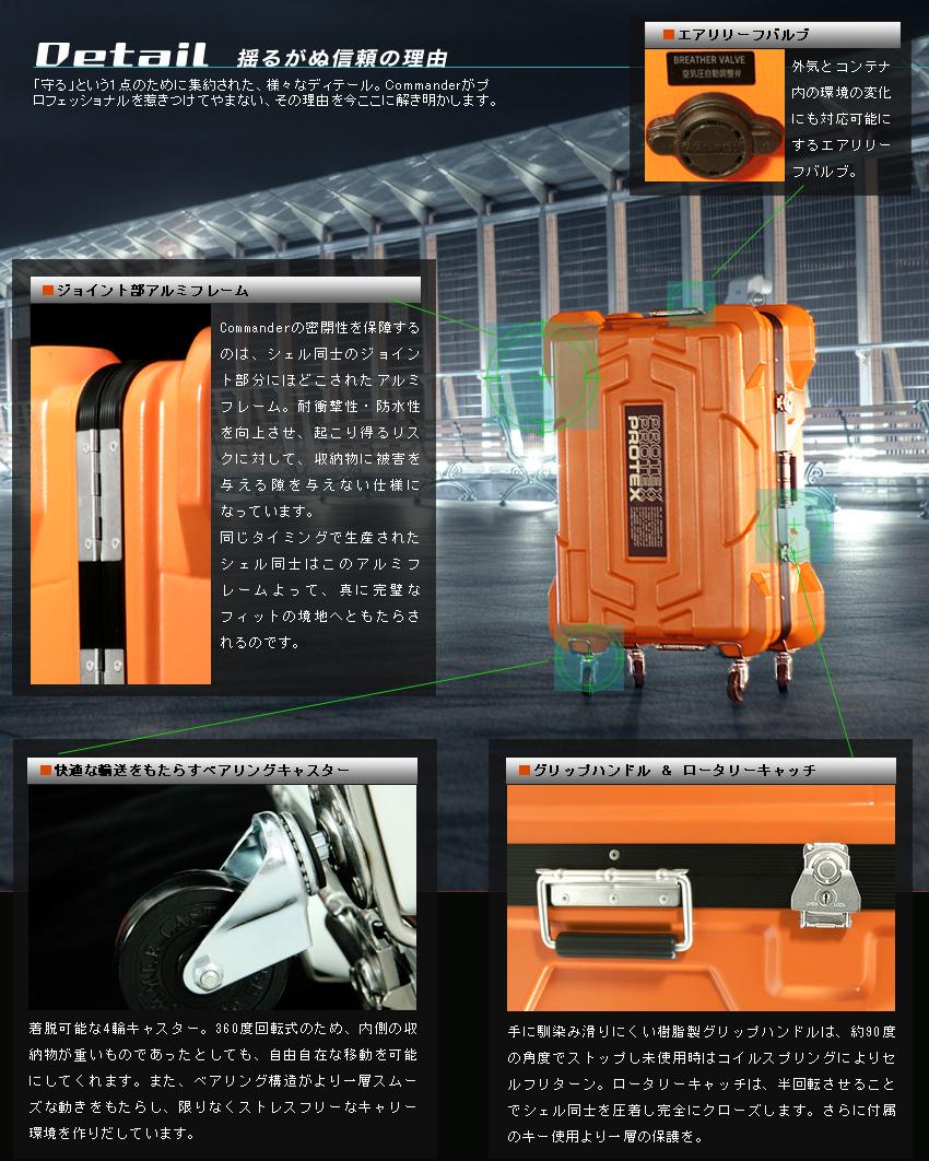 防水加工ハードコンテナ・キャリーケース